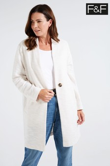 F&F Neutral Bone Snit Coat