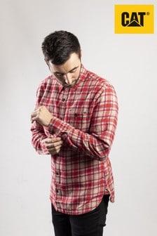 CAT® Lifestyle Red Bradley Long Sleeve Shirt
