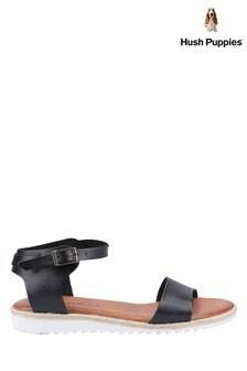 Hush Puppies Black Gina Flat Sandals