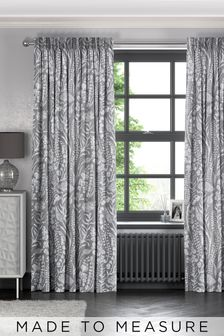 Garrick Mouse Grey Made To Measure Curtains