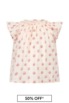 Bonpoint Baby Girls Cream Cotton Blouse