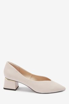 Ecru Forever Comfort® Pointy Flare Heel Shoes