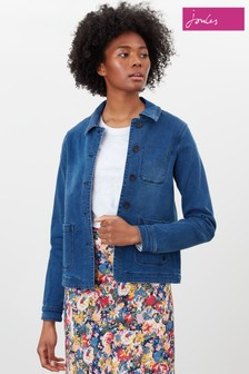 Joules Blue Alice Cotton Blend Jacket
