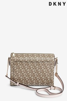 DKNY Bryant Logo Print Box Cross Body Bag