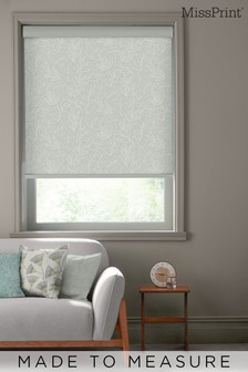 Laurus Stonewash Grey Made To Measure Roller Blind by MissPrint