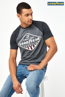 Charcoal Goodyear Licence T-Shirt