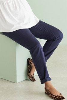 Navy Maternity Chino Trousers