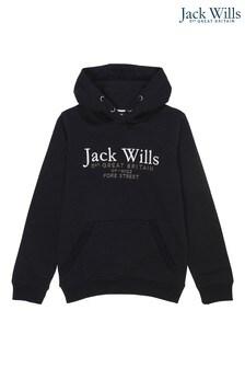 Jack Wills Boys Black Hoodie