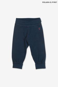 Polarn O. Pyret Blue Organic Cotton Trousers