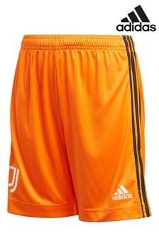 adidas Orange Juventus Third 20/21 Football Shorts