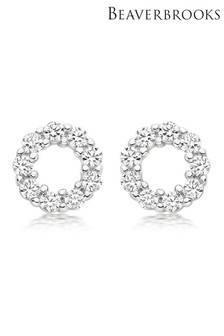 Beaverbrooks Cubic Zirconia Circle Stud Earrings