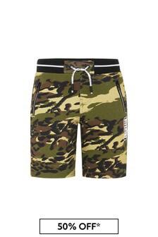 Givenchy Kids Baby Boys Khaki Cotton Shorts