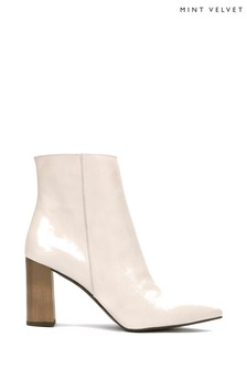 Mint Velvet Melanie Off White Boots