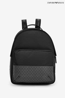 Emporio Armani Black Nylon Backpack