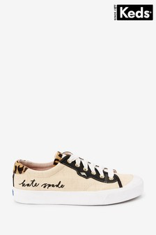 Keds Kate Spade Crew Leather Raffia Shoes