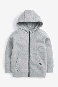 Grey Zip Through Hoodie (3-16yrs)
