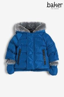 Baker by Ted Baker Newborn Boys Blue Padded Coat
