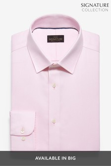 Pink Slim Fit Single Cuff Non-Iron Egyptian Cotton Stretch Signature Shirt