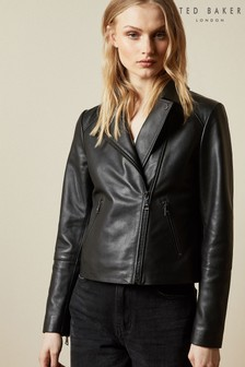 Ted Baker Janeal Leather Biker Jacket