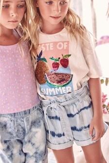White Sequin Taste Of Summer T-Shirt (3-16yrs)