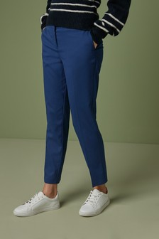 Blue Tailored Slim Trousers