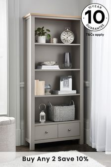 Dove Grey Malvern Bookcase