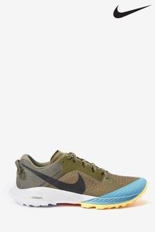Nike Trail Khaki/Blue Air Zoom Terra Kiger 6 Trainers