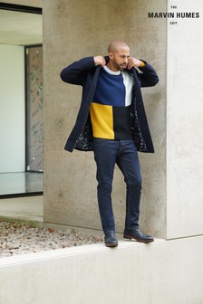 Navy Epsom Coat