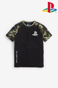 Camouflage PlayStation™ Raglan T-Shirt (3-16yrs)