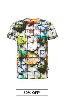 Molo Boys Multicoloured Cotton T-Shirt