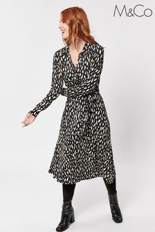 M&Co Animal Print Shirt Dress