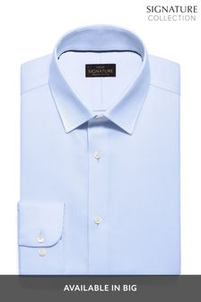 Blue Slim Fit Single Cuff Non-Iron Egyptian Cotton Stretch Signature Shirt