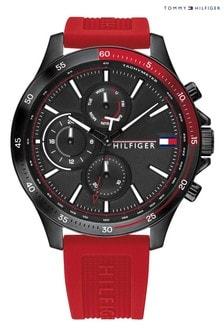 Tommy Hilfiger Red Silicone Strap Watch