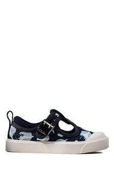 Clarks Navy Interest City Dance T Canvas Shoes