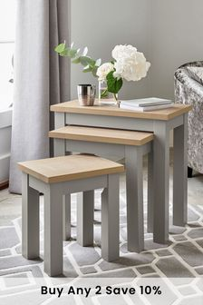 Dove Grey Malvern Nest Of 3 Tables