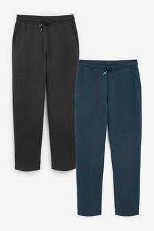 Slate Grey/Black 2 Pack Open Hem Joggers
