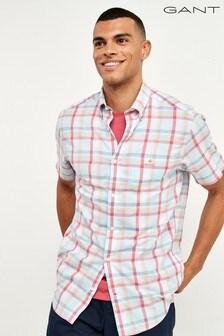 GANT Windblown Oxford Plaid Short Sleeve Shirt