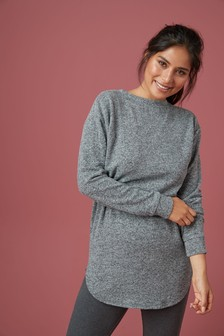 Grey Supersoft Knitted Tunic