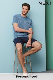 Personalised Jersey Short Pyjama Set