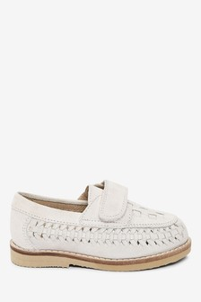 Stone Woven Loafers