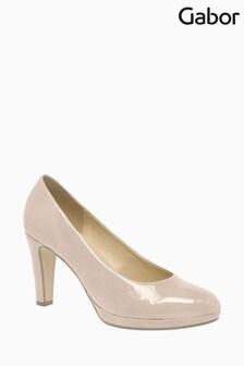 Gabor Splendid Sand Lack Dress Court Shoes