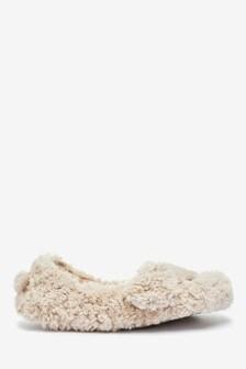 Oatmeal Dog Slippers