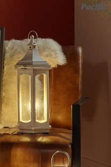 Adaline Wood Lantern Table Lamp by Pacific Lifestyle