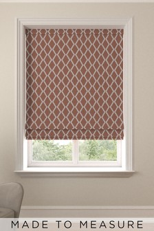Taylor Coral Orange Made To Measure Roman Blind