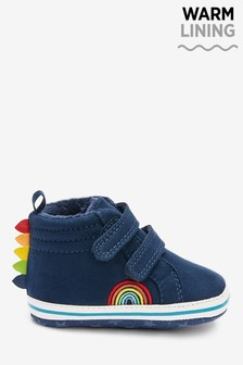 Navy Rainbow Two Strap Pram Boots (0-24mths)
