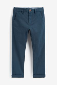 French Navy Slim Fit Stretch Chino Trousers (3-16yrs)