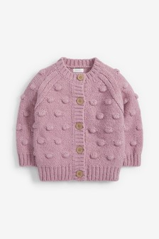 Pink Chunky Bobble Cardigan (3mths-7yrs)