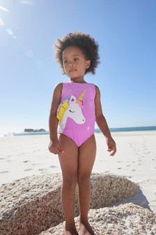 Lilac 3D Unicorn Swimsuit (3mths-7yrs)