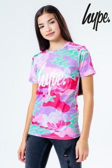 Hype. Kids Multi Camo Rose T-Shirt