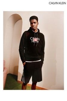 Calvin Klein Black Reversed Text Hoody